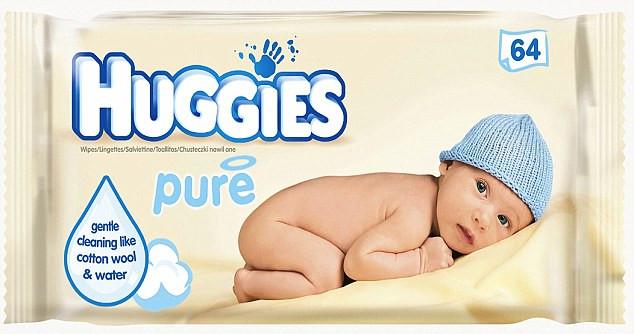 Вологі дитячі серветки Huggies Pure 64 шт.