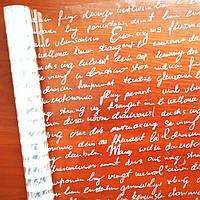"""Пленка с рисунком """"Английское письмо"""" (60 см, 400 г) белое"""