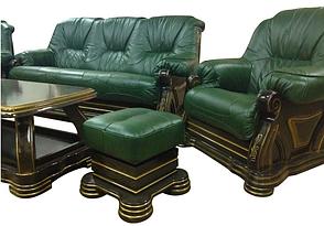 """Комплект шкіряних меблів """"Віконт 5030"""": диван + крісло, фото 2"""