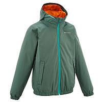 Куртка детская для мальчика Quechua Arpenaz 500 зеленая