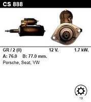 Стартер на PORSCHE 911 3.3 Turbo, 3.6, 3.8, 968 3.0, 3.0 AC, 0001110059, 96460410400