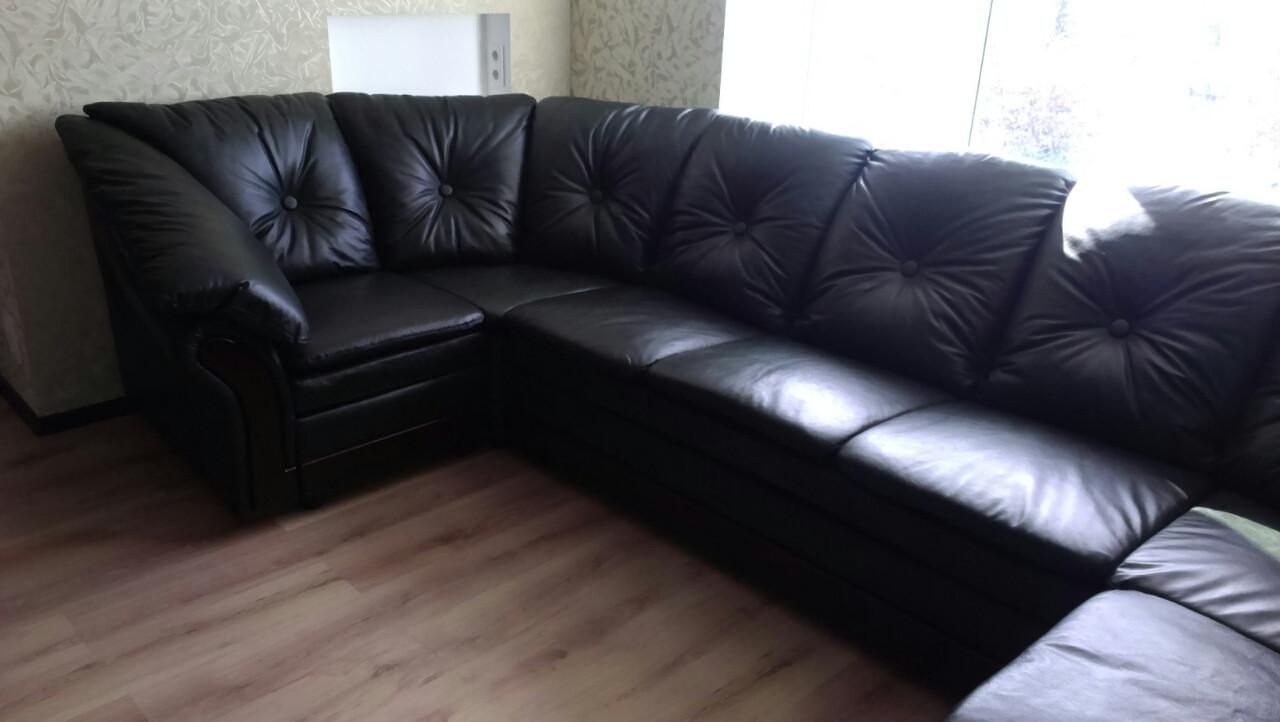 Перетяжка мягких угловых диванов. Перетяжка мягкой мебели.