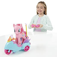 Пони Пинки Пай 15 см на скутере зо звуком на управлении My Little Pony Pinkie Pie RC Scooter