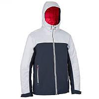 Куртка мужская осенняя, водонепроницаемая Tribord 100 белая