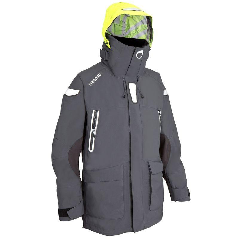 Куртка мужская для яхтинга, водонепроницаемая Tribord 100 серая - priyatili.com в Львове