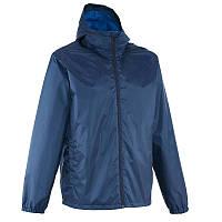 Куртка мужская осенняя, водонепроницаемая Quechua RAINWARM 50 синяя