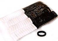 Резинки для волос черные и белые упаковка 100 шт