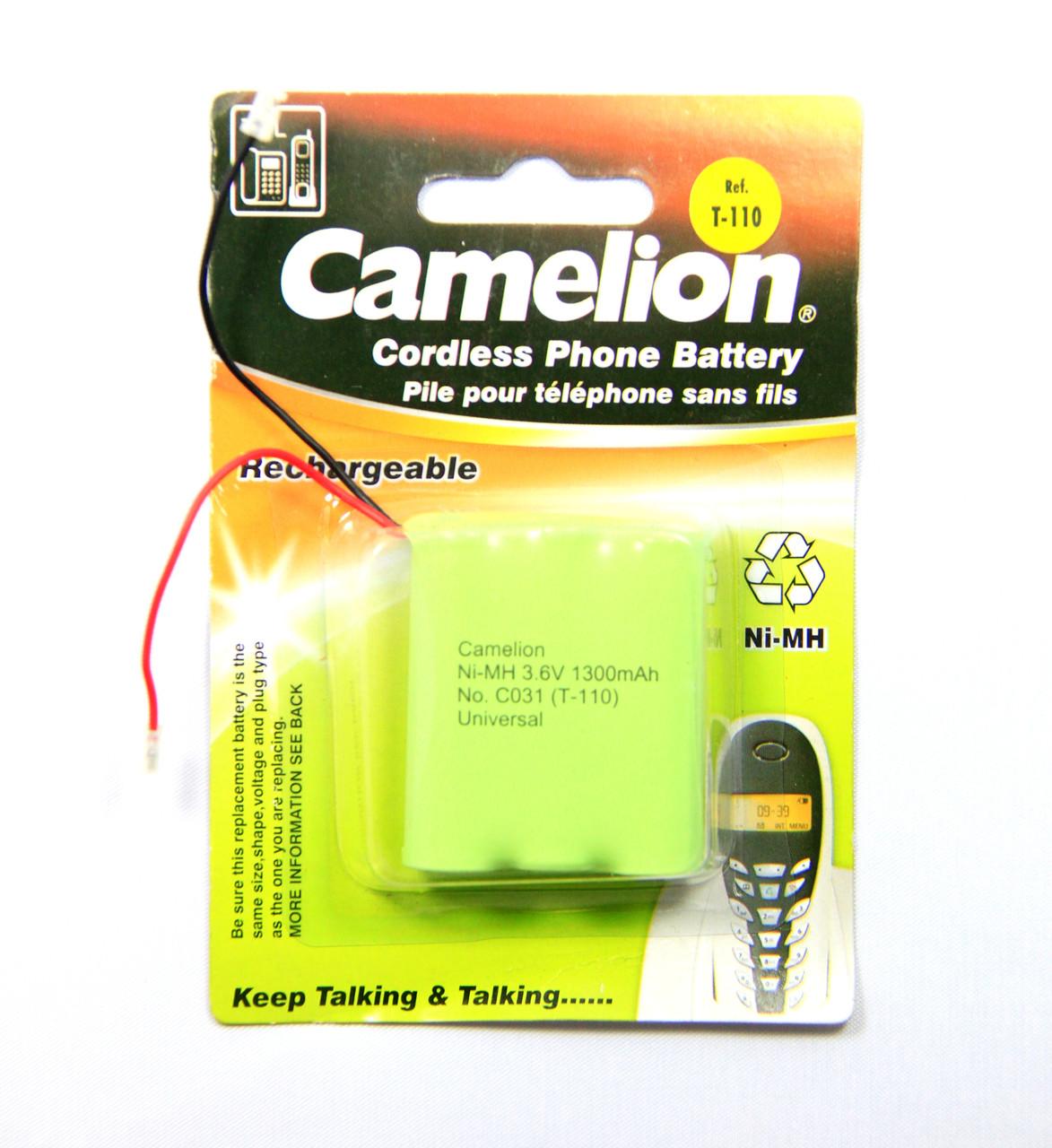 Акумулятор для радіотелефонів Camelion C031 (T-110) 1300 mAh Ni-MH
