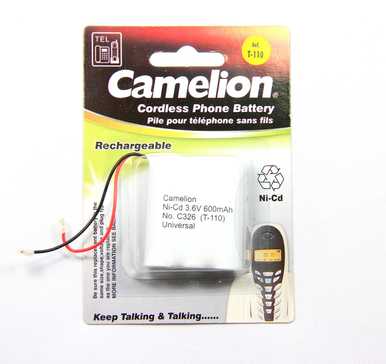 Аккумулятор для радиотелефонов Camelion C326 (T-110) 600 mAh Ni-Cd