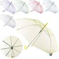 Зонт детский прозрачный арт.  0518
