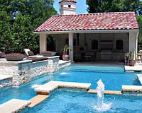 Невероятный бассейн с фонтаном и водопадом у вас во дворе