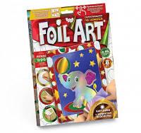 """Творчество. Аппликация цветной фольгой по номерам """"Foil Art"""" Пок. /20/"""