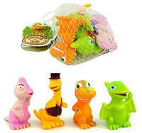 Резиновые игрушки для детей Динозаврики