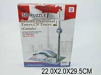 """3D паззл """"Канадская национальная башня"""", 83 дет., в кор. 22х2х29 /96-2/"""