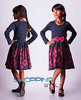 Детское платье для девочки Ромбики на юбке