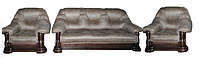 Комплект классической мебели в ткани - Гризли