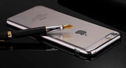 Силиконовый чехол c серыми ободами iphone 6 6S