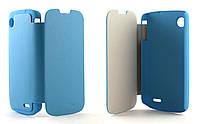 Чехол-книжка для смартфона Lenovo A800 Boso, Blue
