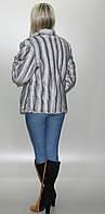 Женская шубка из искусственного меха, Серо - голубая норка