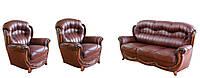 Новый кожаный комплект мебели - Джове 3-1-1