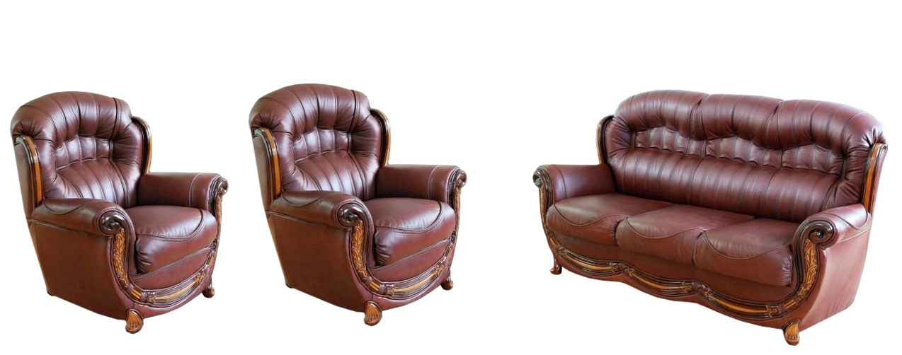 Новый кожаный комплект мебели - Джове 3-1-1 - Евродиван в Киеве