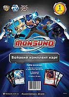 Аксесуари та інструкції для гри Monsuno (Бойовий комплект карт Monsuno) Випуск 1