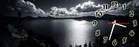 Озеро часы настенные 30*90 см фотопечать