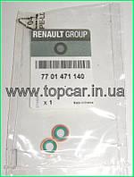 Уплотнительные кольца трубки подачи масла на турбину Renault Trafic 1.9Dci  RENAULT ОРИГИНАЛ 7701471140