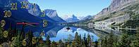 Горный пейзаж - 4 часы настенные 30*90 см фотопечать
