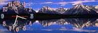 Горный пейзаж - 5 часы настенные 30*90 см фотопечать