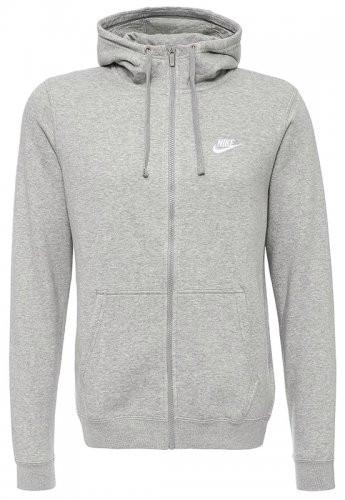 d410a638 Толстовка мужская Nike hoodie fz flc Club (серый) - vectorsport в Виннице