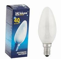 "Лампа накаливания ""свеча"" ДСМТ 230-25 Вт Е27 матовая колба"