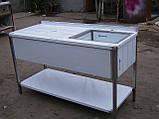 Ванны моечная односекционная из нержавейки, фото 4