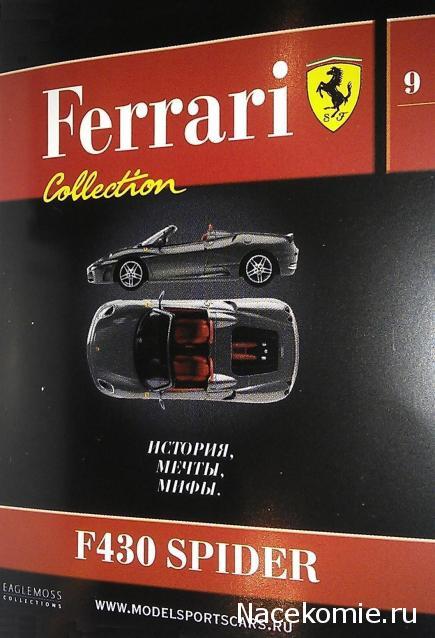 Модель коллекционная Ferrari Collection №9 (1:43)