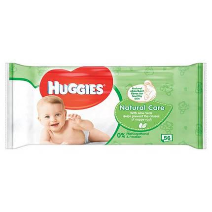 Детские влажные салфетки Huggies Natural Care 56шт. Великобритания, фото 2