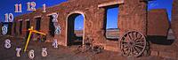 Развалины - 1 часы настенные 30*90 см фотопечать