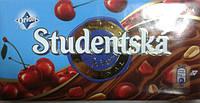 Шоколад ORION Studentska Pecet молочный с вишней 180г.