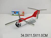 Вертолет инерц., батар., свет, музыка, в п/э 34х11х11 /48-2/