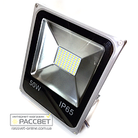Светодиодный LED прожектор СП-50Вт SLIM SMD IP65 с многокристальной матрицей 4000Lm холодный белый (6000К)