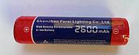 Аккумулятор для подводных фонарей 18650, 2600 mA/h; с платой защиты