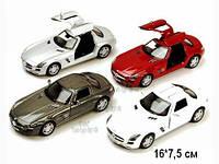 KINSMART Mercedes-Benz SLS AMG, метал, инерц., 1:36, в кор. 16х8х7 /96-4