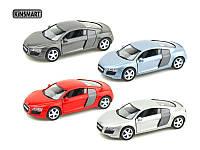 KINSMART Audi R8, метал, инерц. /96-4