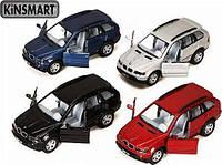 """Модель джип 5"""" KT5020W BMW X5 метал.инерц.откр.дв.1:36 кор.ш.к./96/"""