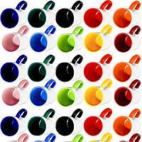 Чашка сублимационная (цветная внутри и цветная ручка)