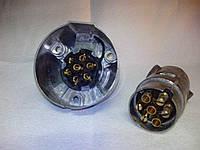 Розетка для прицепа металлическая 0001 12V, фото 1