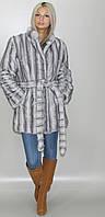 Шубка средней длины из искусственного меха, Серо - голубая норка (в розницу +150грн)