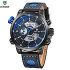 Часы наручные электронные Weide WH 3401  Leather Blue, фото 2