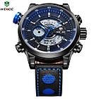 Часы наручные электронные Weide WH 3401  Leather Blue, фото 4