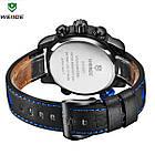 Часы наручные электронные Weide WH 3401  Leather Blue, фото 5