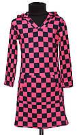 Детское платье-туника с капюшоном р 128-146